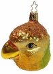 Golden Macaw Ornament by Inge Glas
