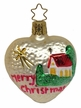 Merry Christmas Heart Ornament by Inge Glas in Neustadt by Coburg