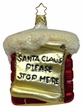 Just To Make Sure, Chimney Note Ornament by Inge Glas