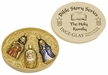 Holy Family, Boxed Set of 3 Ornaments, Bible Story Series by Inge Glas