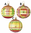 Assorted Plaid Balls Ornament by Inge Glas in Neustadt by Coburg - $13 Each