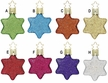 Starry Nights, Star Ornament by Inge Glas - $9.00 Each