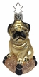 Pugsie, Dog on Pillow Ornament by Inge Glas