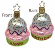 Happy Birthday Cupcake Ornament by Inge Glas in Neustadt by Coburg