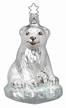 Sitting Winter Bear Ornament by Inge Glas in Neustadt by Coburg