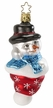 I Love Winter Snowman Ornament by Inge Glas
