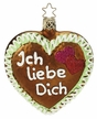 Ich liebe Dich Heart Ornament by Inge Glas