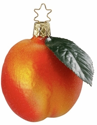 Fuzzy Peach Ornament by Inge Glas
