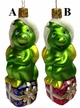 Green Dragon Sitting on Present Ornament by Inge Glas in Neustadt by Coburg - $24 Each