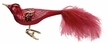 Festive Bird, Oxblood, Matte Finish Ornament by Inge Glas in Neustadt by Coburg