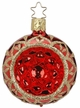 "2 1/4"" Blossom Reflect Red Shiny Ornament by Inge Glas in Neustadt by Coburg"