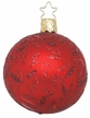 "2 1/4"" Red Matte Delights Ornament by Inge Glas in Neustadt by Coburg"