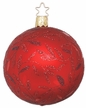 """3 1/4"""" Red Matte Delights Ornament by Inge Glas in Neustadt by Coburg"""