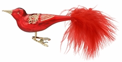Red Beauty Red Matte Bird Ornament by Inge Glas in Neustadt by Coburg