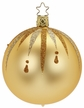 "3 1/4"" Fancy Inkagold Ball Ornament by Inge Glas in Neustadt by Coburg"