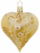 "4"" Milano Heart, Inkagold Shiny Transparent Ornament by Inge Glas in Neustadt by Coburg"