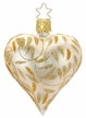 """3 1/4"""" Champagne Matte Delights Heart Ornament by Inge Glas in Neustadt by Coburg"""