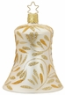 "3 1/4"" Champagne Matte Delights Bell Ornament by Inge Glas in Neustadt by Coburg"