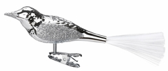 """6"""" Shiny Silver Bird Ornament by Inge Glas in Neustadt by Coburg"""