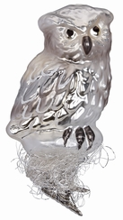 Silver Owl Ornament by Inge Glas in Neustadt by Coburg