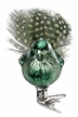 Dark Green Birdie Ornament by Inge Glas in Neustadt by Coburg