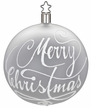 "4"" White Matte Merry Christmas Ornament by Inge Glas in Neustadt by Coburg"