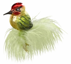 Green Feather Ornament by Inge Glas in Neustadt by Coburg