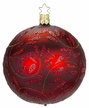 "4"" Bordeaux Matte Delights Ornament by Inge Glas in Neustadt by Coburg"