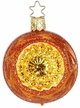 "2 1/4"" Fairy Reflections, Pumpkin Shiny Ornament by Inge Glas in Neustadt by Coburg"