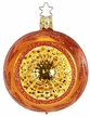 "3 1/4"" Fairy Reflections, Pumpkin Shiny Ornament by Inge Glas in Neustadt by Coburg"