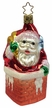 Busy Santa in Chimney Ornament by Inge Glas in Neustadt by Coburg