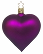 Purple Matte Heart Ornament by Inge Glas in Neustadt by Coburg
