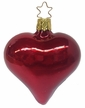 Deep Red Mercury Heart Ornament by Inge Glas in Neustadt by Coburg