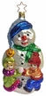 Snowman with Children Ornament by Inge Glas in Neustadt by Coburg