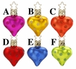 Dot City Hearts Ornament by Inge Glas in Neustadt by Coburg - $10.50 Each