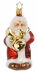 Santa Plays Bass Ornament by Inge Glas in Neustadt by Coburg