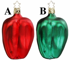 Pair of Peppers Ornament by Inge Glas in Neustadt by Coburg - $14 Each
