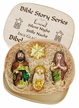 Silent Night, 4 Piece Boxed Ornament Set by Inge Glas