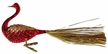Red Bird with Gold Tail Ornament by Inge Glas