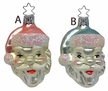 Santa Head Ornament by Inge Glas in Neustadt by Coburg - $8.50 Each