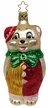 Bear in Clown Suit Ornament by Inge Glas