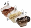Cappuccino Cup Ornament by Inge Glas - $18.50 Each
