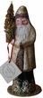Champagne/Brown Coated Santa Paper Mache Candy Container by Ino Schaller