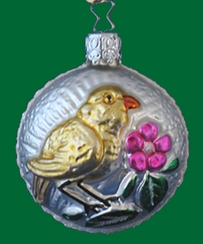 Chick on Form Ornament by Inge Glas