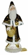 Choco Brown and Gold Santa Paper Mache Candy Container by Ino Schaller