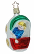 Christmas Baby Carriage Ornament by Inge Glas