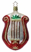 Christmas Lyre Ornament by Inge Glas