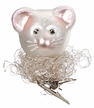 Christmas Mouse Clip On Ornament by Inge Glas