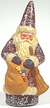 """""""Cleaning up Christmas"""" Santa Paper Mache Candy Container"""