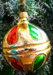 Colorful Jingle Reflector Ornament by Hausdörfer Glas Manufaktur